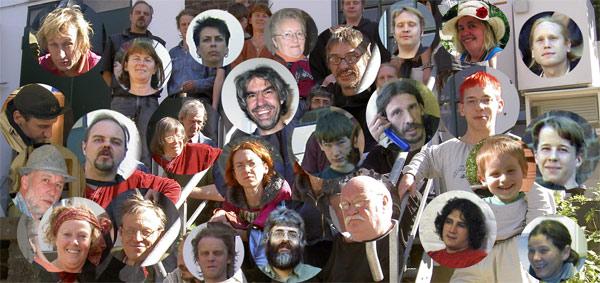 Collage, Porträts von SSM-Menschen.