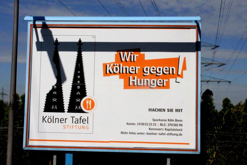 Plakat Kölner Tafel: «Wir Kölner gegen Hunger».